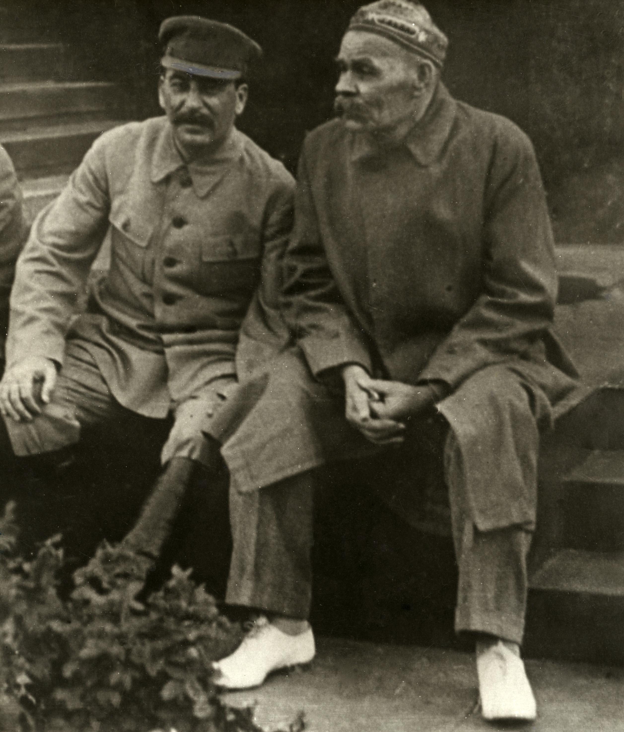 Stalin with Gorky
