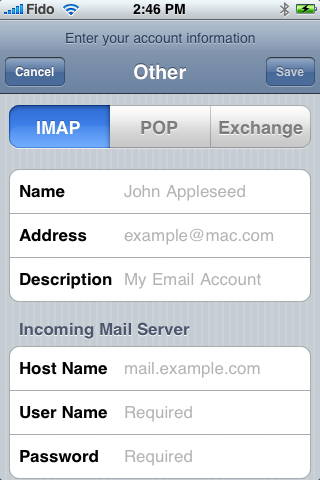 iPhone IMAP